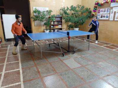Клуб любителей  игры в настольный теннис